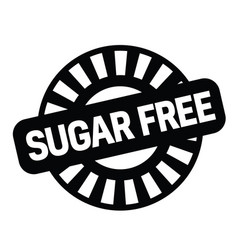 sugarfree rubber stamp vector image