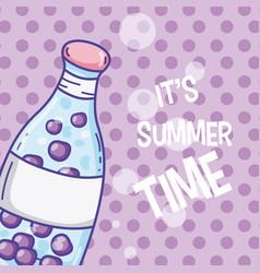 summer time juice cartoon vector image