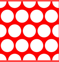 tile pattern with white polka dots red background vector image