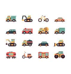 transport flat icon transportation symbols vector image