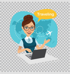 Trip to worldtravel to worldtravel agency banner vector
