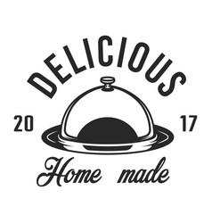Vintage kitchen utensil label vector