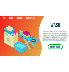 wash concept banner isometric style vector image