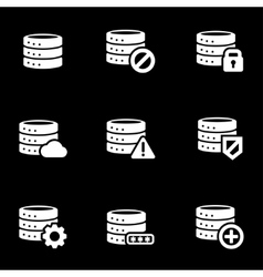 white database icon set vector image
