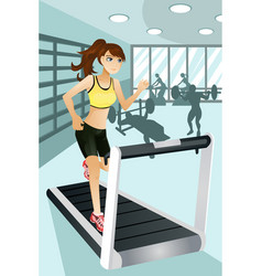 woman exercise in gym vector image