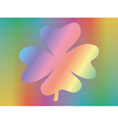hologram with four-leaf shamrock vector image vector image