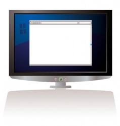 LCD web browser monitor vector image