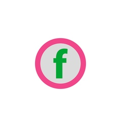 Letter f icon vector