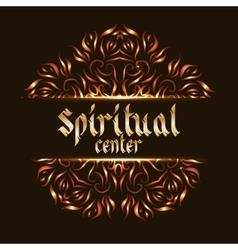 Spiritual center logo mandala vector image