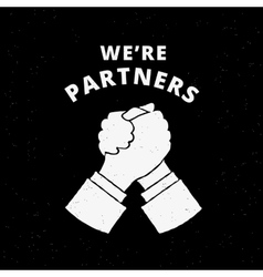Two business partners handshake vector