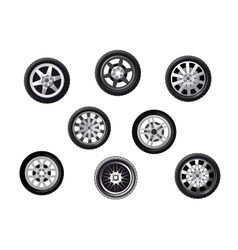Car tyres set vector image