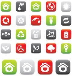 green icons environmental vector image