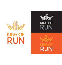 king of run on different background fitness vector image vector image