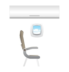 plane - jet interior with seats vector image