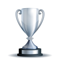 Silver trophy cup vector