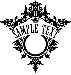 Vintage ornamental frame template for your title vector