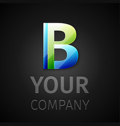 abstract logo letter B vector image