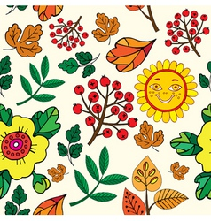 autumn print pattern vector image vector image