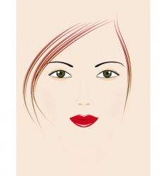 beautiful girl with green eyes vector image
