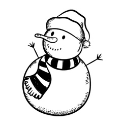 christmas snowman vector image vector image