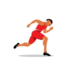 Sprinter runner sign vector image
