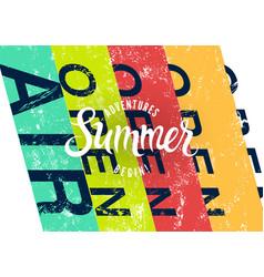 summer festival open air grunge poster vector image
