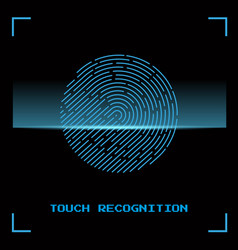 touch identification fingerprint vector image vector image