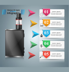 viper smoke business infographics vector image vector image