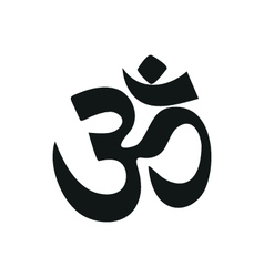 yoga om sign and symbol simple black icon on white vector image vector image