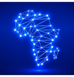 Abstract polygonal Africa map vector image