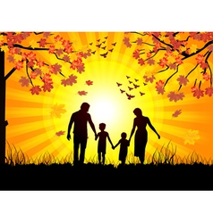 autumn and family vector image vector image