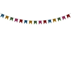 Decorative flags on greeting card template vector image vector image