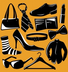 fashion objects vector image vector image