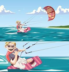 Kitesurfer vector image vector image