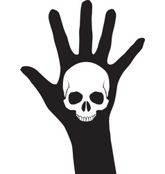 Skull on the hand vector image