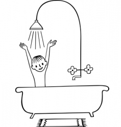 taking a shower boy vector image vector image
