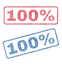 100 percent textile stamps vector image