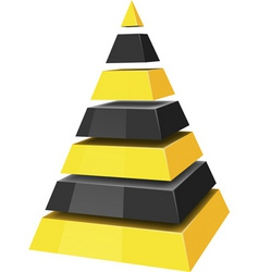 3d pyramids vector
