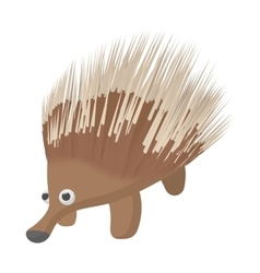 A borwn porcupine icon cartoon style vector