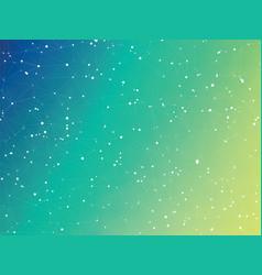 abstract blue green bio molecule connection vector image