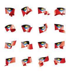 antigua and barbuda flag on a vector image
