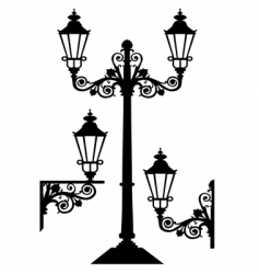 antique street lights vector image
