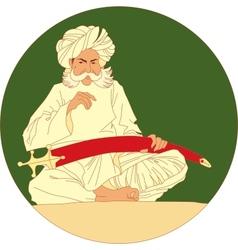 Arabic man vector