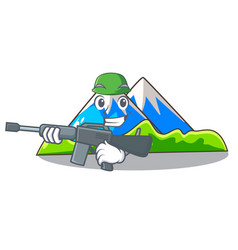 Army beautiful mountain in the cartoon form vector