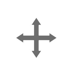 Arrows pointing in different directions four way vector