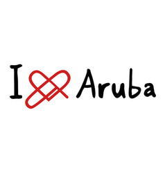 aruba love icon vector image