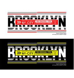 Athletic brooklyn sport typography design vector