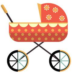 Baby pram icon flat isolated vector
