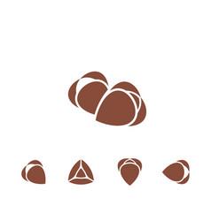 Buckwheat icon set vector