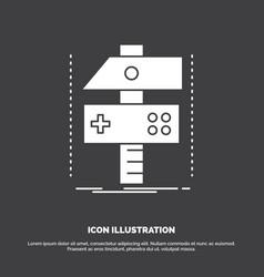 build craft develop developer game icon glyph vector image